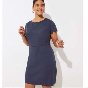 Loft scalloped short sleeve dress